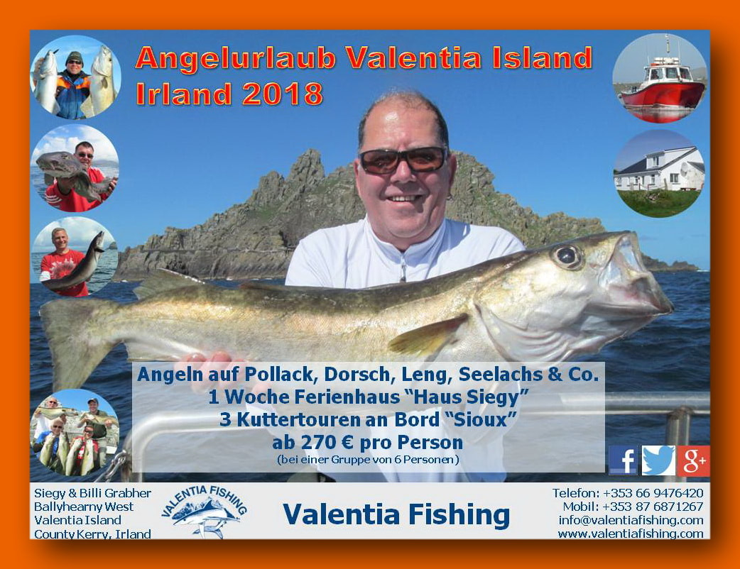 Angelurlaub Valentia Fishing 2018